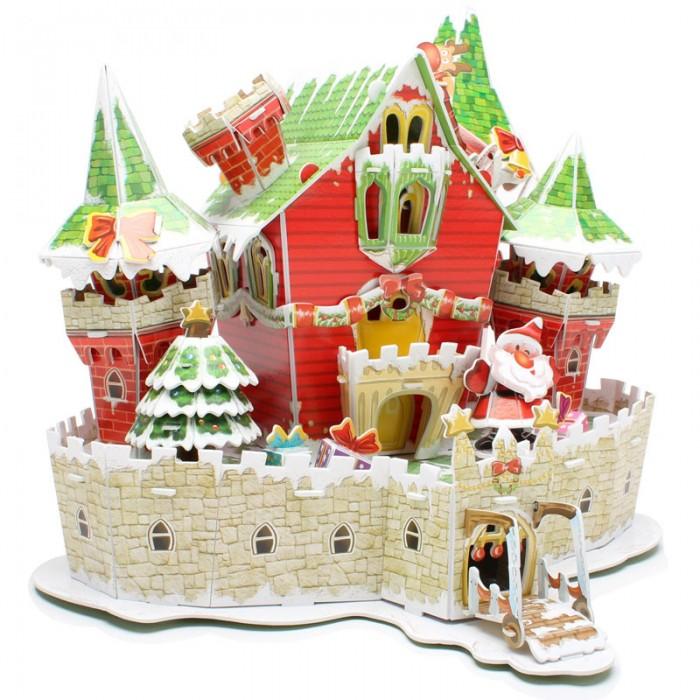 Конструкторы CubicFun 3D пазл Сказочный рождественский замок с подсветкой cubicfun cubicfun 3d пазл с подсветкой рождественский домик 53 детали