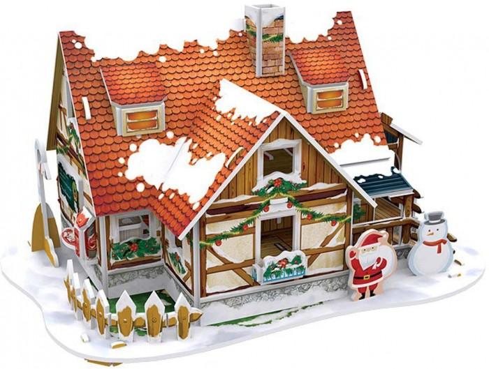 Конструкторы CubicFun 3D пазл Рождественский домик 1 с подсветкой конструкторы cubicfun 3d пазл эйфелева башня 2 франция
