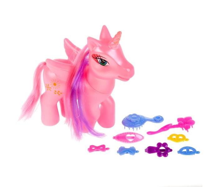 Купить Развивающие игрушки, Развивающая игрушка Карапуз Пони с аксессуарами 16 см