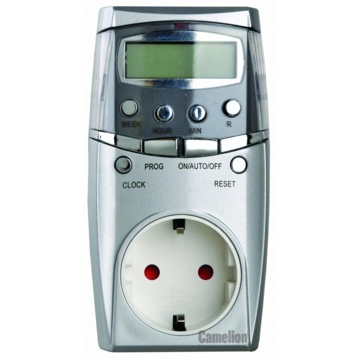 Батарейки, удлинители и переходники Camelion Таймер цифровой розеточный BND-50/SG65 батарейки удлинители и переходники camelion аккумулятор nh aa2300arbp2