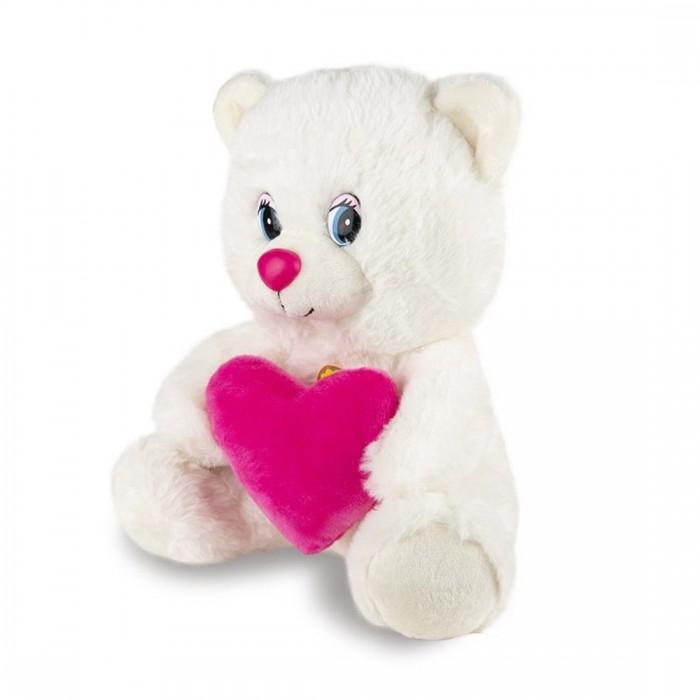 Мягкие игрушки Maxi Play Мишка с сердцем музыкальный 21 см