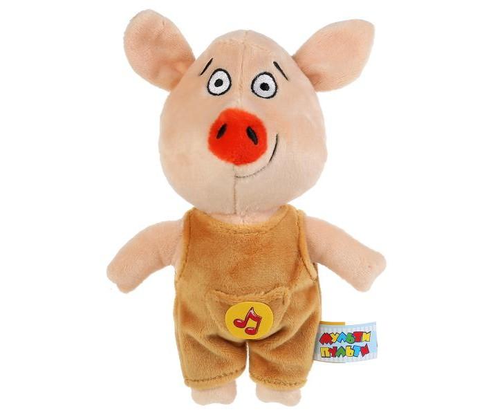 Купить Мягкие игрушки, Мягкая игрушка Мульти-пульти озвученная Оранжевая корова Поросёнок Коля 17 см