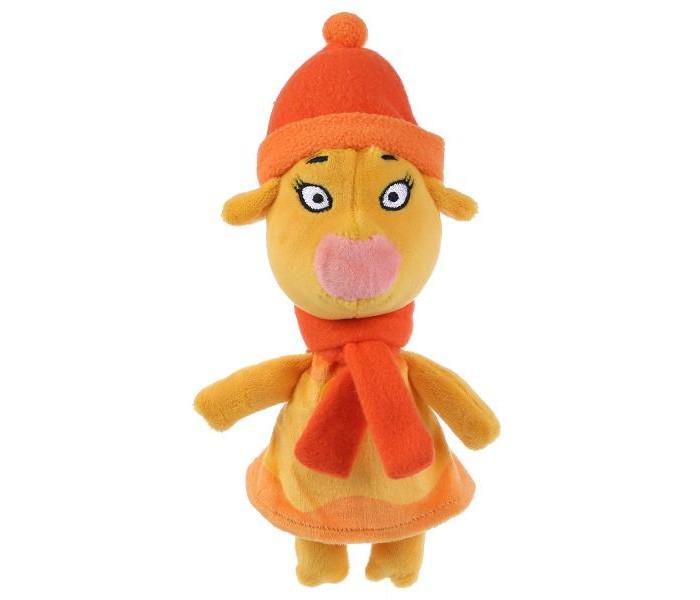 Картинка для Мягкая игрушка Мульти-пульти озвученная Оранжевая корова Зо в зимней одежде 21 см