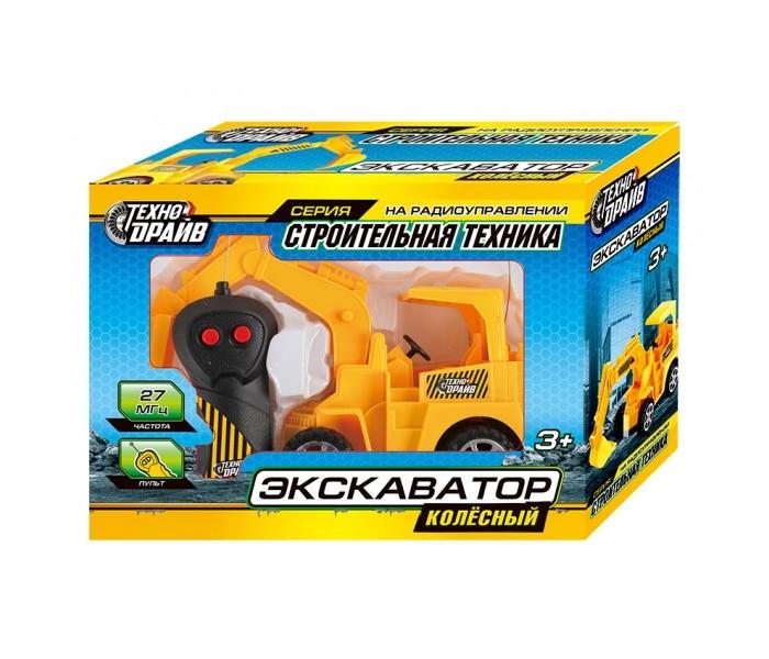 Радиоуправляемые игрушки Технодрайв Радиоуправляемый Колёсный экскаватор