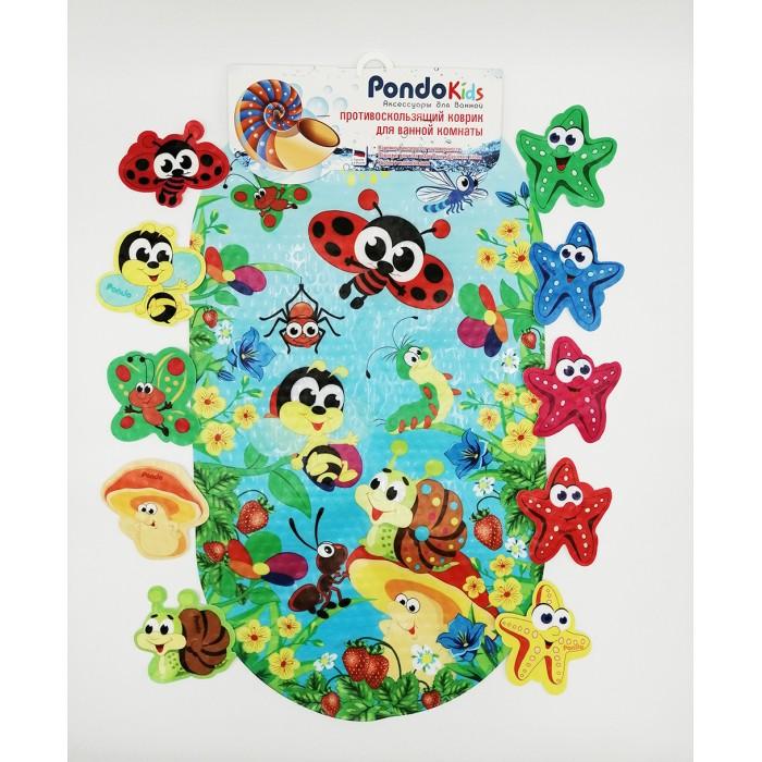 коврики для купания roxy kids мини коврики для ванны 12 шт Коврики для купания Pondo Kids Набор для ванны Веселая Полянка PK-0044