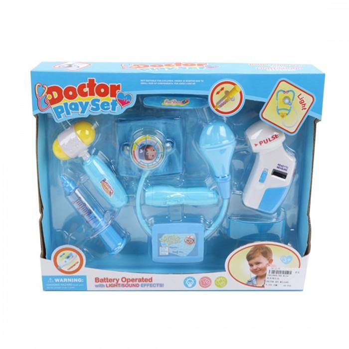 Ролевые игры Наша Игрушка Игровой набор Доктора со светом (7 предметов) ролевые игры наша игрушка игровой набор стилист со светом 12 предметов