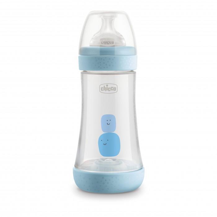 Бутылочка Chicco Perfect5 Boy с силиконовой соской средний поток с 2 мес. 240 мл