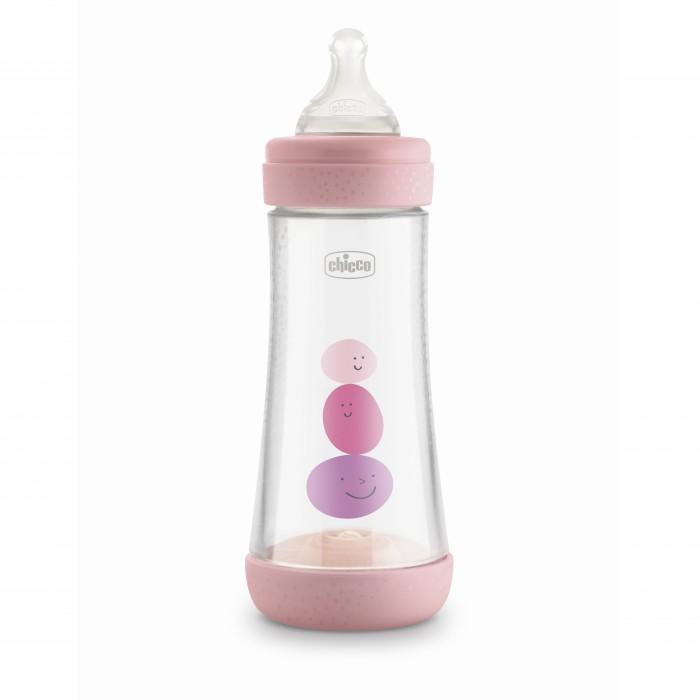 Бутылочка Chicco Perfect5 Girl с силиконовой соской быстрый поток с 4 мес. 300 мл