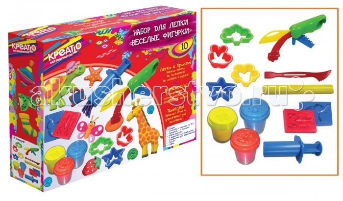 Всё для лепки Креатто Набор для лепки Веселые фигурки всё для лепки lori пластилин классика 16 цветов