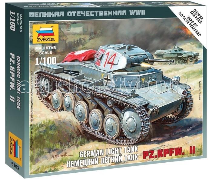 Конструкторы Звезда Модель Немецкий танк Т-II (без клея)