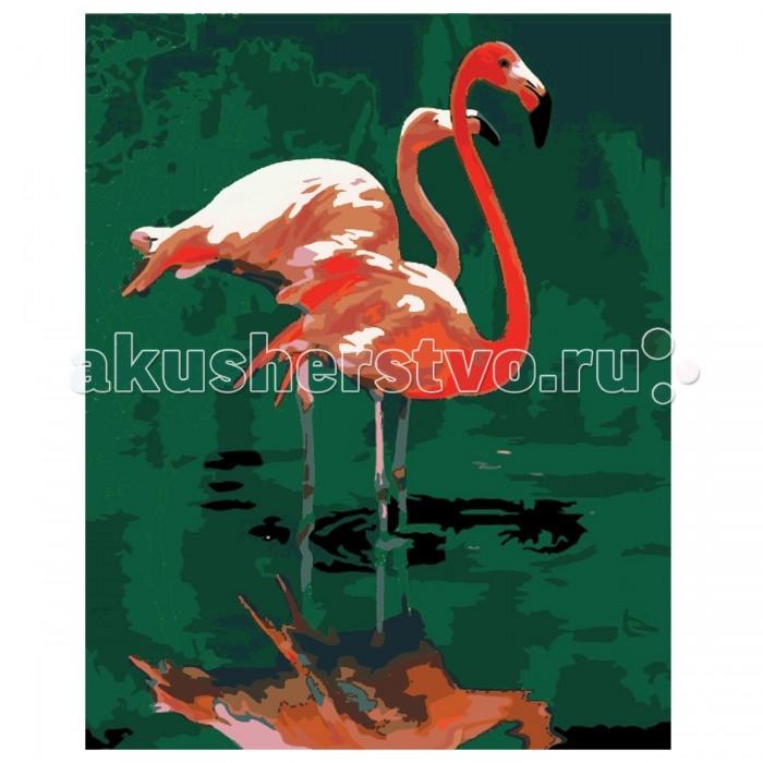 Картины по номерам Креатто Роспись холста по номерам Розовый фламинго холст любовь разные цвета розовый