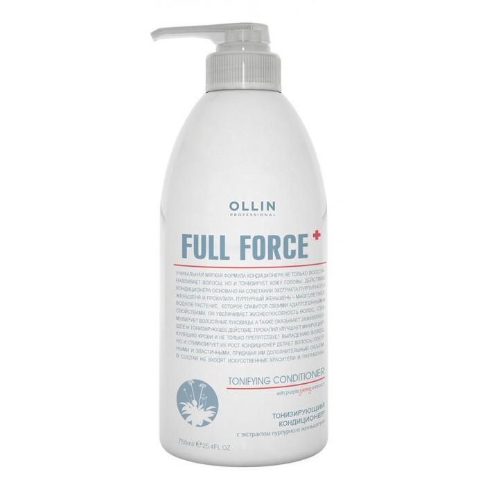 Косметика для мамы OLLIN Professional Full Force Тонизирующий кондиционер с экстрактом пурпурного женьшеня 750 мл