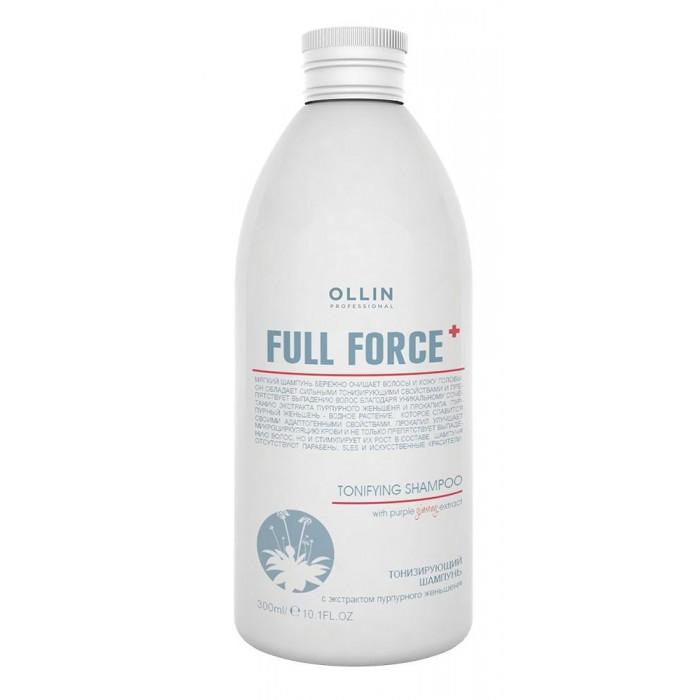 OLLIN Professional Full Force Тонизирующий шампунь с экстрактом пурпурного женьшеня 300 мл 725713