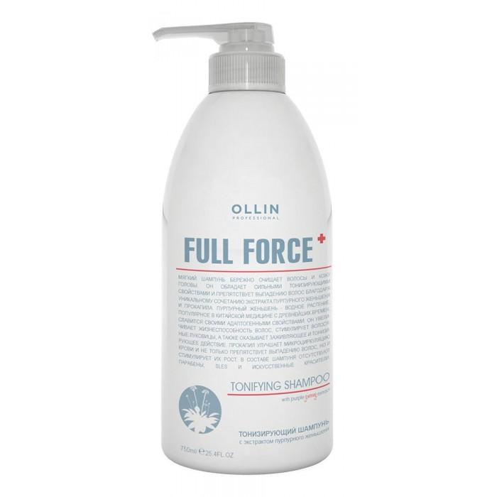 OLLIN Professional Full Force Тонизирующий шампунь с экстрактом пурпурного женьшеня 750 мл 725706