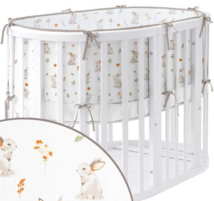 бортики в кроватку idea kids кролики Бортики в кроватку Sleep and Play Кролики