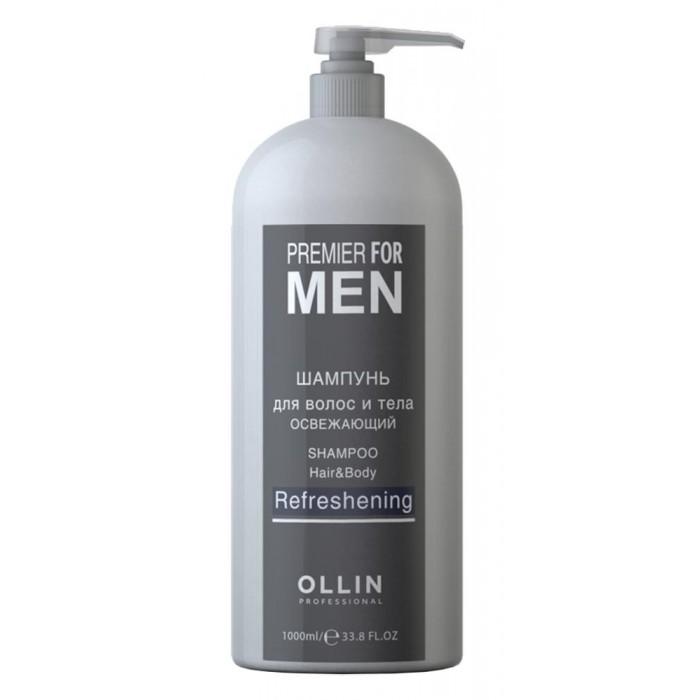 OLLIN Professional Premier For Men Шампунь для волос и тела освежающий 1000 мл 729759