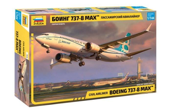 Купить Сборные модели, Звезда Сборная модель Пассажирский авиалайнер Боинг 737-8 Max