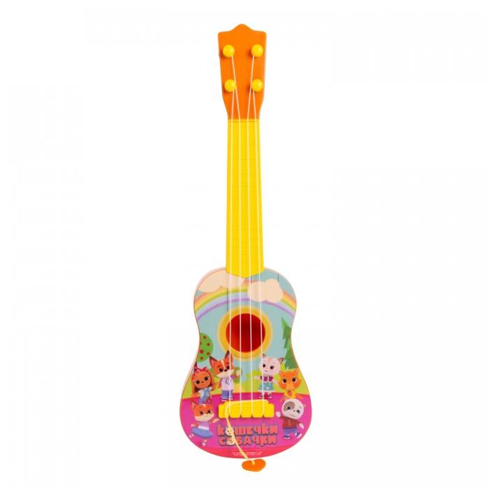 Купить Музыкальные инструменты, Музыкальный инструмент Кошечки-Собачки Гитара 43 см