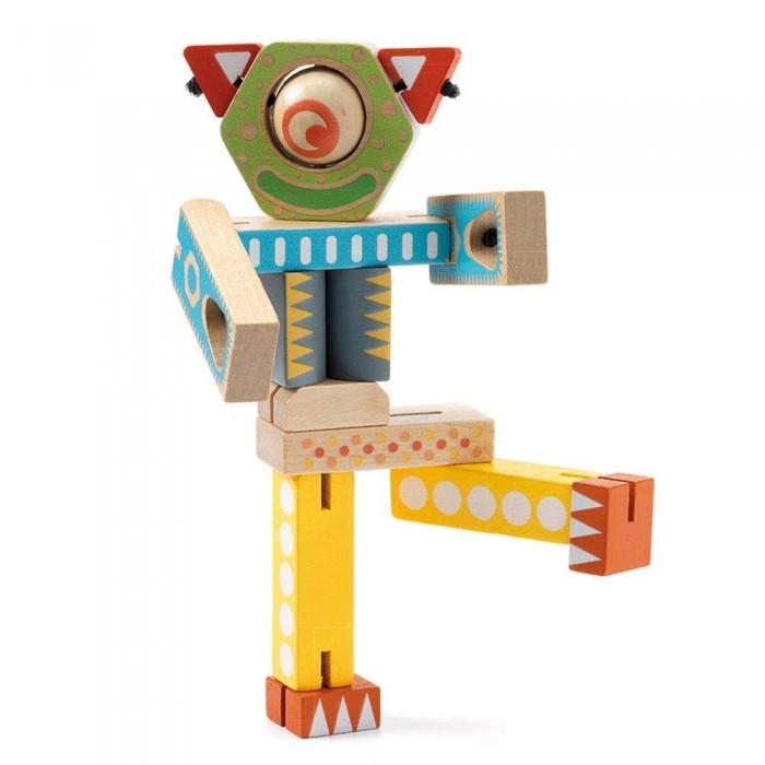 Деревянные игрушки Djeco Конструктор Роботы конструктор роботы 4 в 1