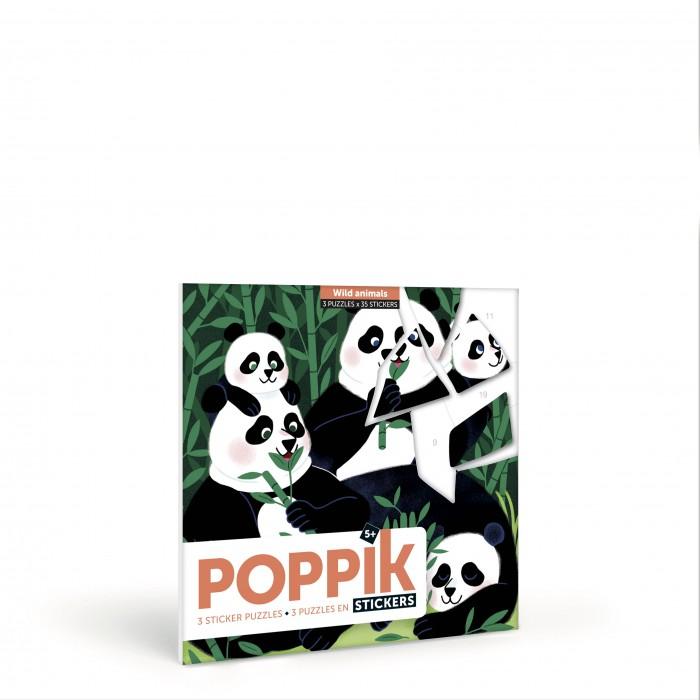 Картинка для PoppiK Головоломка - наклейка Дикие животные