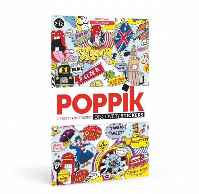 Картинка для PoppiK Образовательный постер из наклеек Английский стиль