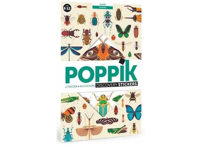 Картинка для PoppiK Образовательный постер из наклеек Насекомые