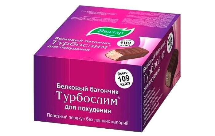Эвалар Турбослим белковый батончик для похудения №12 по 50 г