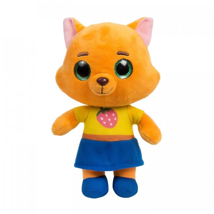 Мягкие игрушки Кошечки-Собачки Буся со звуком 25 см