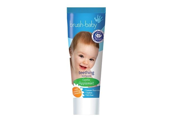 Гигиена полости рта Brush-Baby Детская зубная паста Teethening свобода зубная паста с ароматом земляники в ламин тубе в футляре disney baby свобода