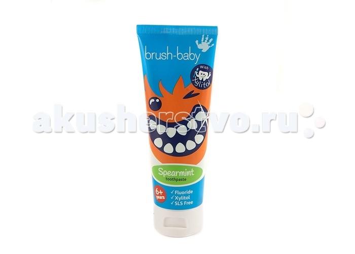 Гигиена полости рта Brush-Baby Детская зубная паста Spearmint 75 мл свобода зубная паста с ароматом земляники в ламин тубе в футляре disney baby свобода