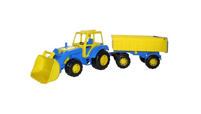Фото - Машины Полесье Трактор с прицепом-1 и ковшом Алтай 35349 трактор полесье алтай с прицепом 2 и ковшом 35363 66 см