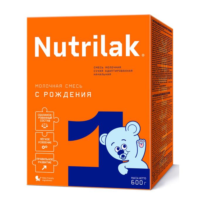 Молочные смеси Nutrilak 1 Смесь сухая молочная адаптированная с 0 мес. 600 г