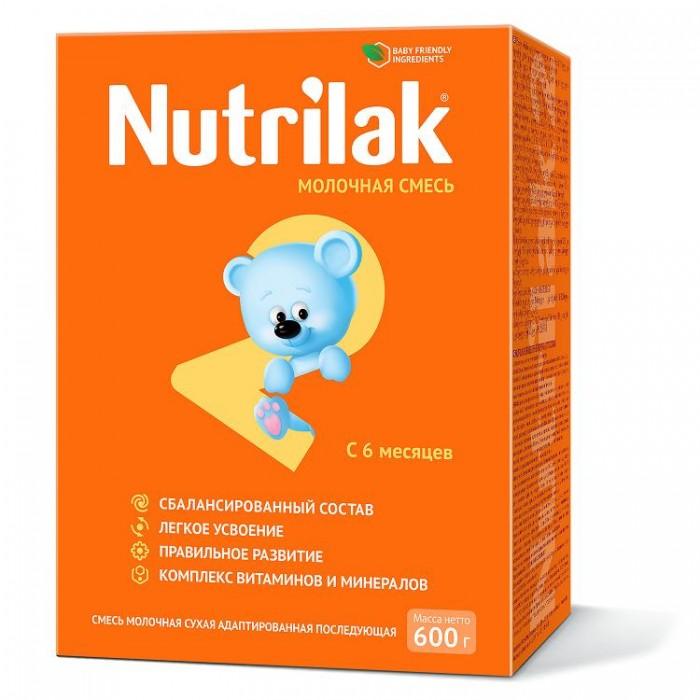 Молочные смеси Nutrilak 2 Смесь сухая молочная адаптированная с 6 мес. 600 г