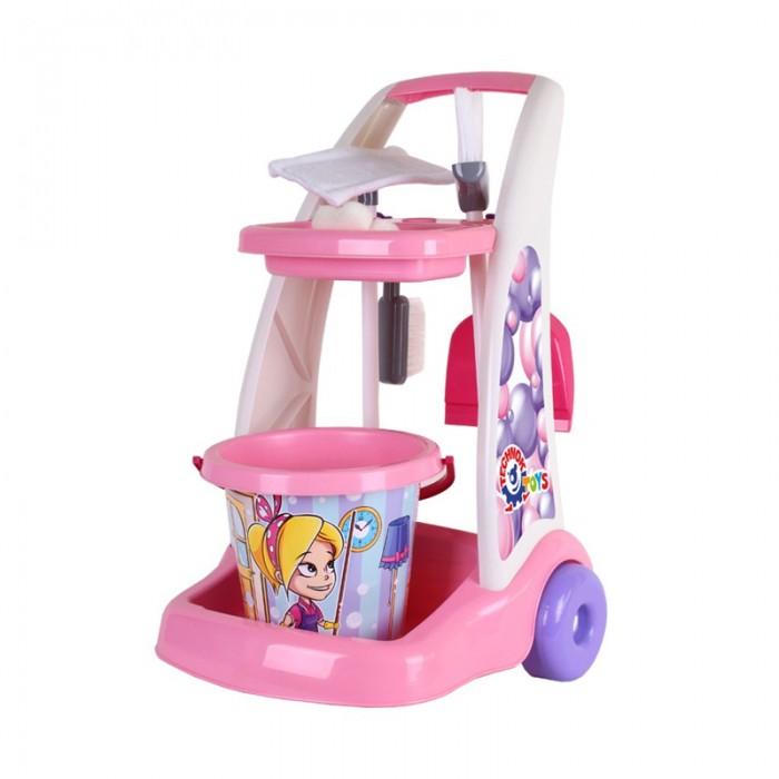 Ролевые игры Технок Набор Маленькая хозяйка с тележкой Cleaning set