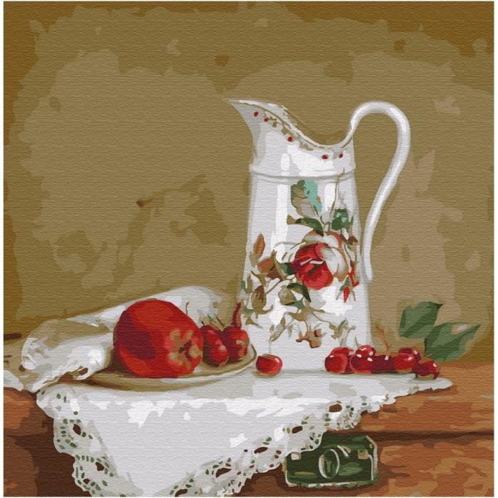 Купить Картины по номерам, Molly Картина по номерам Натюрморт с белым кувшином 30х30 см