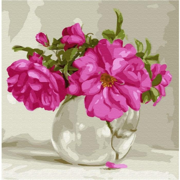 Картины по номерам Molly Картина по номерам Розовый букет 30х30 см