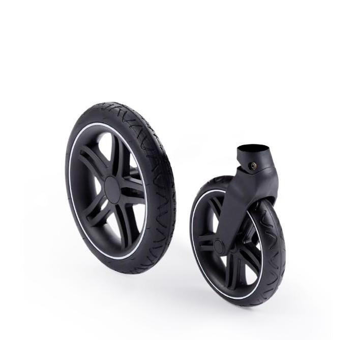 чудо чадо чехлы на колеса для коляски диаметр 18 28 см цвет васильковый 2 шт Аксессуары для колясок Happy Baby Комплект колес для коляски Luna