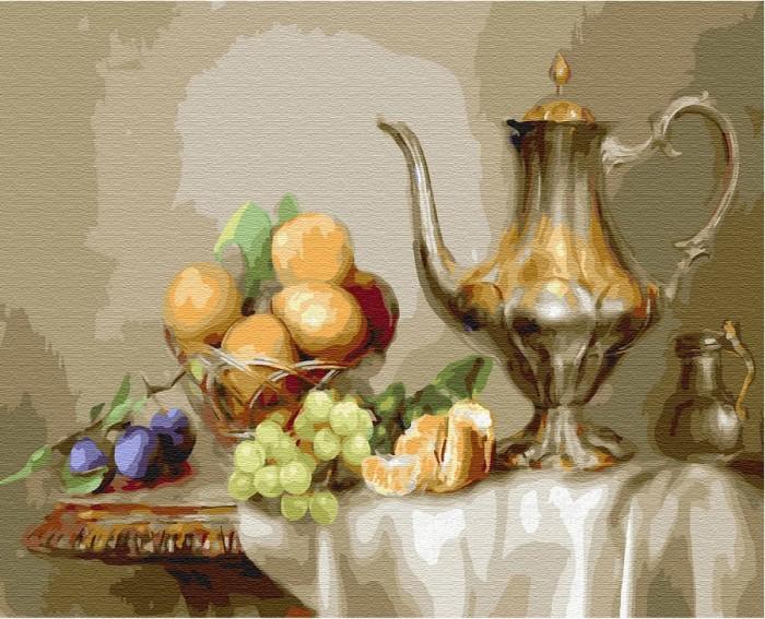 Купить Картины по номерам, Molly Картина по номерам Натюрморт с фруктами 50х40 см