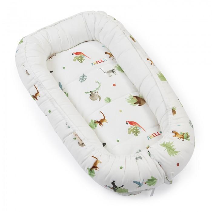Позиционеры для сна Akella Подушка-гнездышко для новорожденных Джунгли