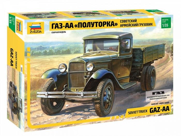 Звезда Сборная модель Звезда Советский армейский грузовик ГАЗ-АА Полуторка