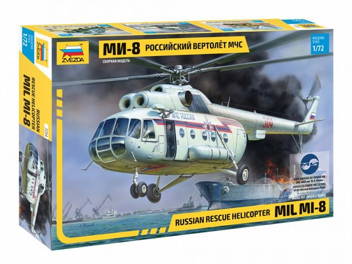 Звезда Сборная модель Российский вертолёт МЧС МИ-8