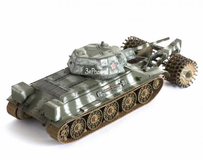 Купить Сборные модели, Звезда Сборная модель Советский средний танк с минным тралом Т-34/76
