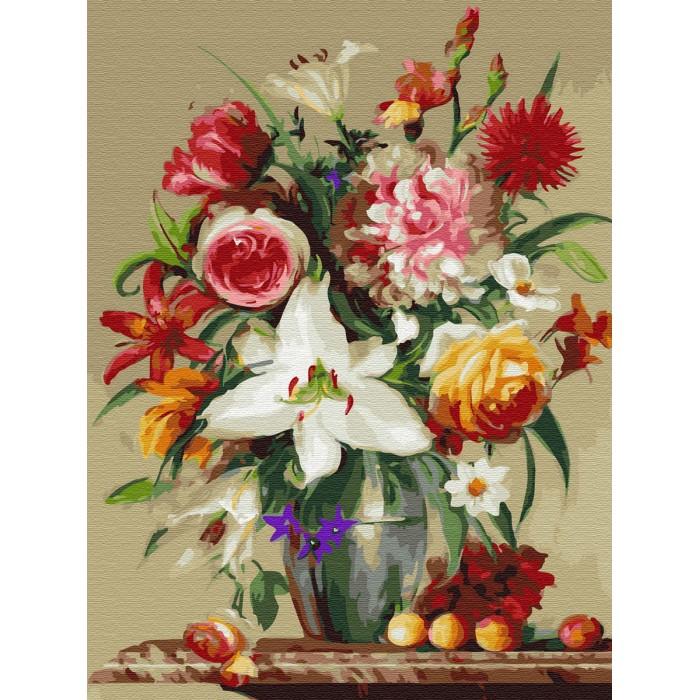 Картины по номерам Molly Картина по номерам на дереве Цветы и фрукты 50х40 см