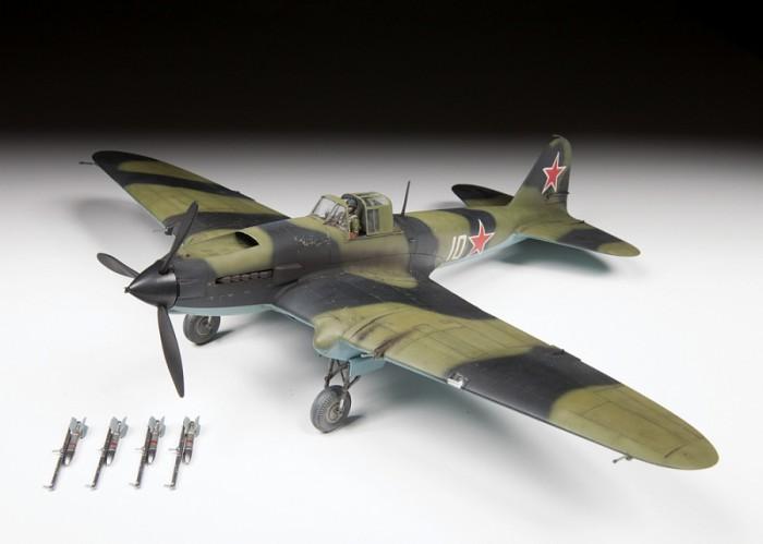 Звезда Сборная модель Советский штурмовик Ил-2