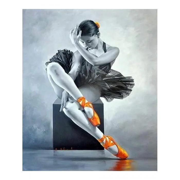 Купить Картины по номерам, Котеин Картина по номерам Юная балерина 30х30 см
