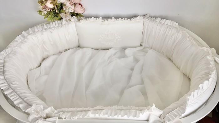 Бортик в кроватку Krisfi Утонченность прямоугольную и овальную Бпрем03
