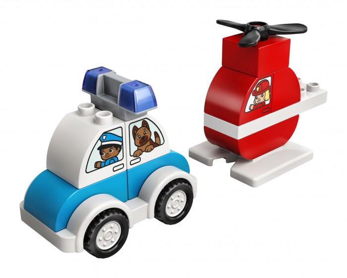 Купить Конструктор Lego Duplo Пожарный вертолет и полицейский автомобиль