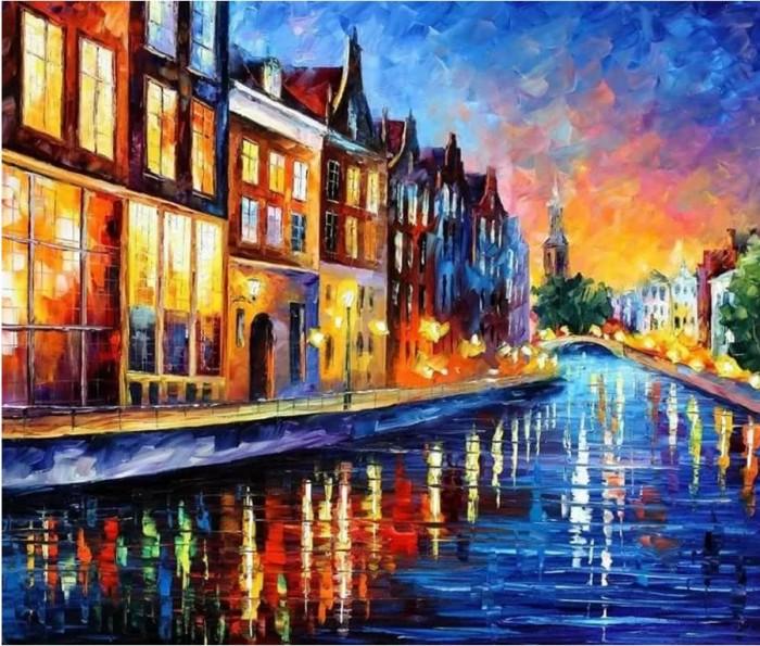 Картины по номерам Котеин Картина по номерам Каналы Амстердама 30х30 см мозаика котеин маркетри картина на дереве лорд пес 20x20