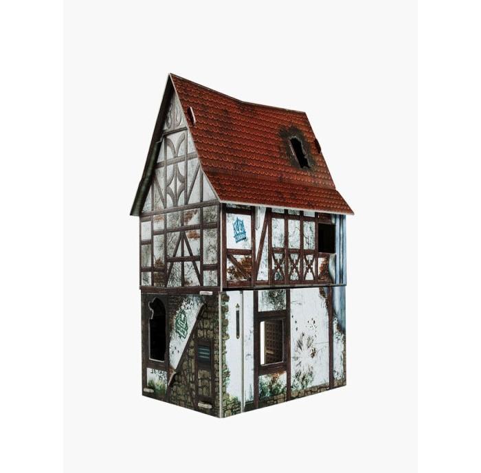 Умная бумага Сборная модель из картона Игра без правил Заброшенный дом
