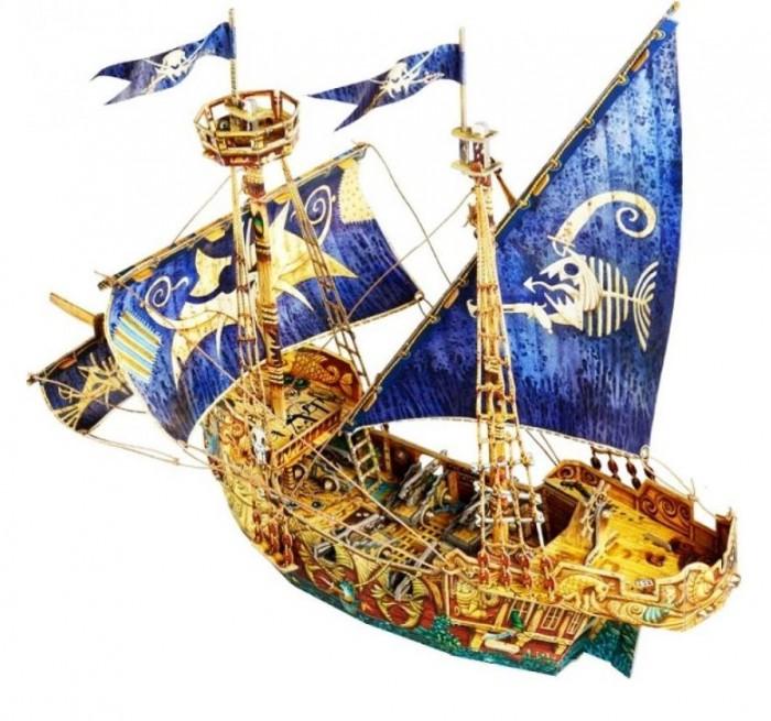 Умная бумага Сборная модель из картона Пиратский корабль